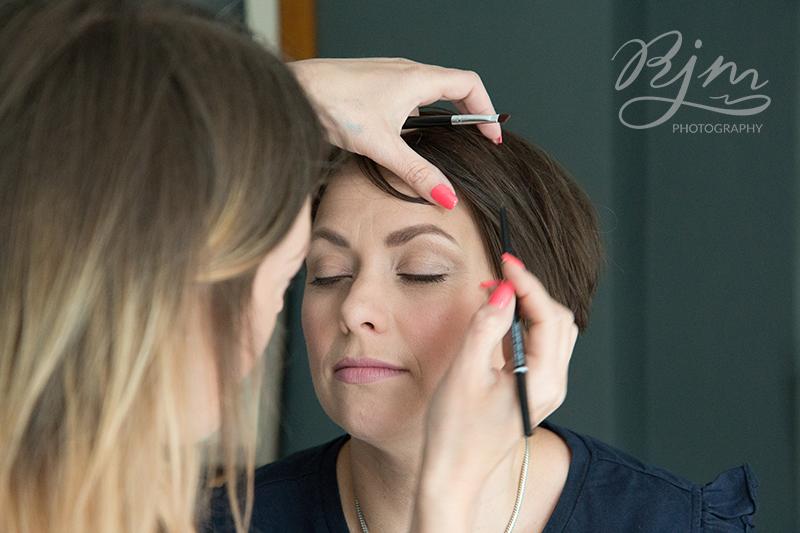 Headshot makeup artist RJM Photography