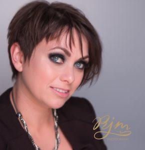 Headshot Portrait with makeup artist newcastle