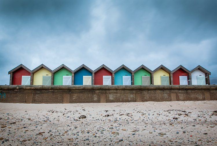 Photograph of Blyth beach huts, Northumberland