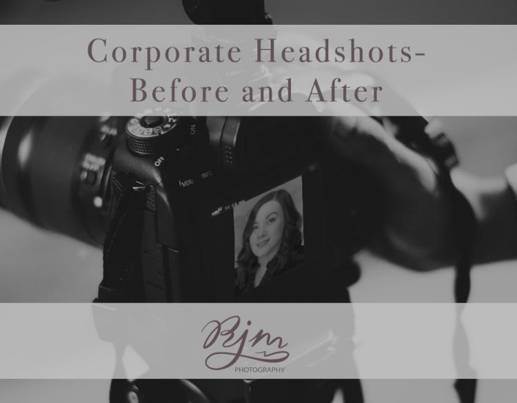 Corporate headshots before and after a professional photoshoot with RJM Photography