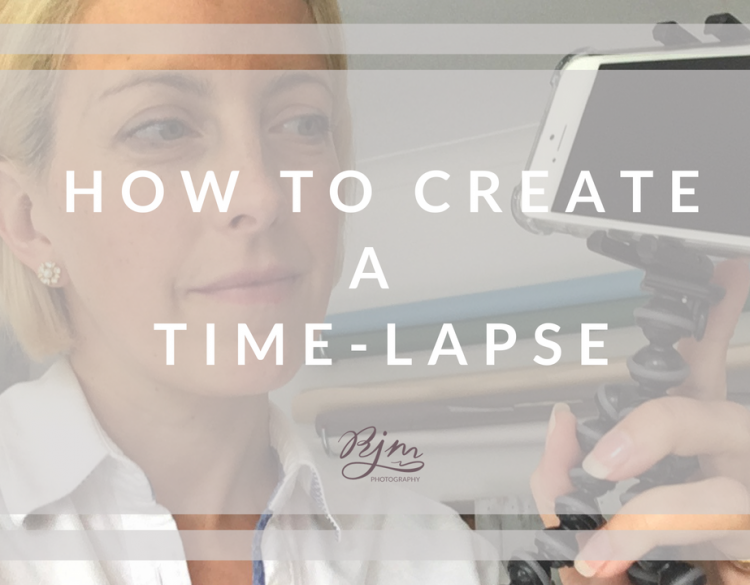 How to create a time-lapse
